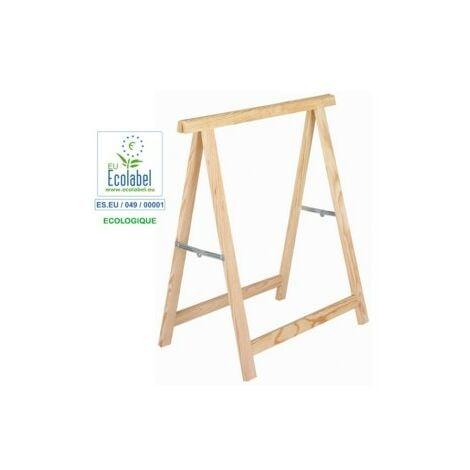 Caballete madera de pino sin barnizar