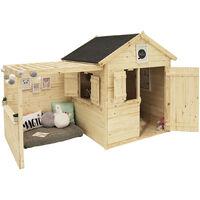 Cabane Alpaga l 3,14m² l en sapin et toiture en toile bitumée