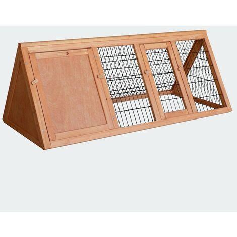 Cabane clapier à lapins rongeurs poulailler lapinière ou autres petits animaux en bois 1180 x 500 x 450 mm - Bois