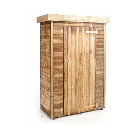 Cabane de jardin en bois 131x69x200 cm