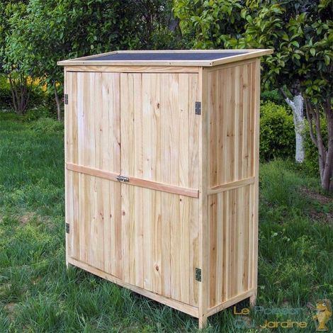 Cabane De Jardin En Bois Brut, Pour Rangement, Hauteur : 152,5 cm.
