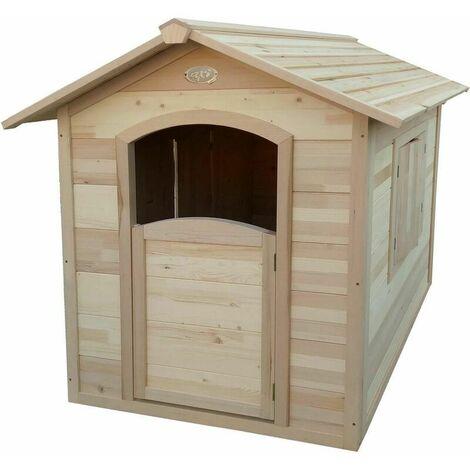 Cabane de jardin enfant en bois FSC Britt Bois naturel non traité - Bois naturel non traité