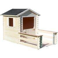 Cabane En Bois Avec Terrasse Pour Enfant Praline