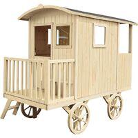 Cabane en bois pour enfant ROULOTTE CARRY - SOULET