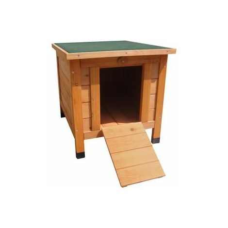 Cabane en bois pour lapin cosy