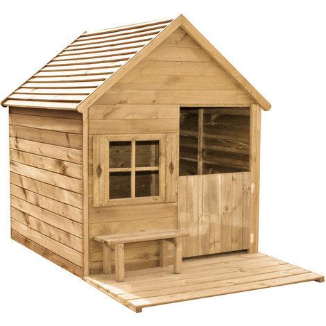 cabane enfant heidi en bois 2665. Black Bedroom Furniture Sets. Home Design Ideas