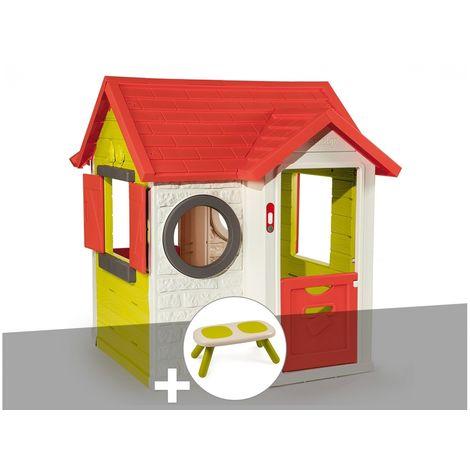 Cabane enfant My Neo House - Smoby + Banc