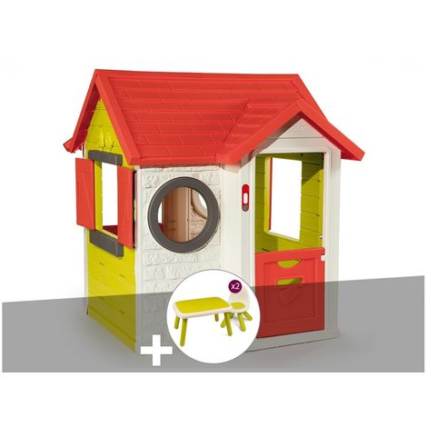 Cabane enfant My Neo House - Smoby + Table et 2 chaises