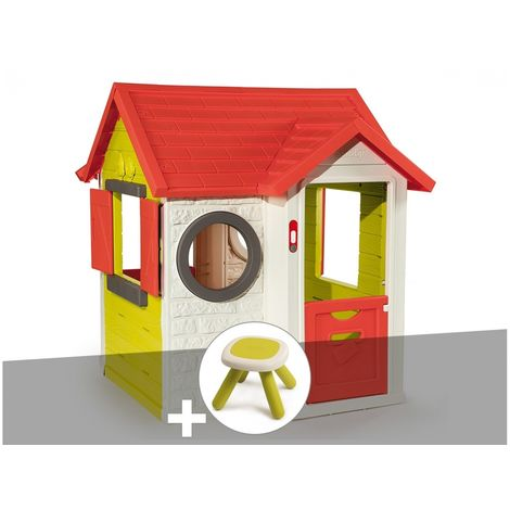 Cabane enfant My Neo House - Smoby + Tabouret