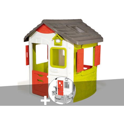 Cabane enfant Neo Jura Lodge - Smoby + Porte maison