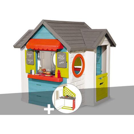 Cabane enfant Smoby Chef House + Cuisine d'été