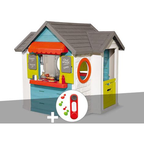 Cabane enfant Smoby Chef House + Sonnette