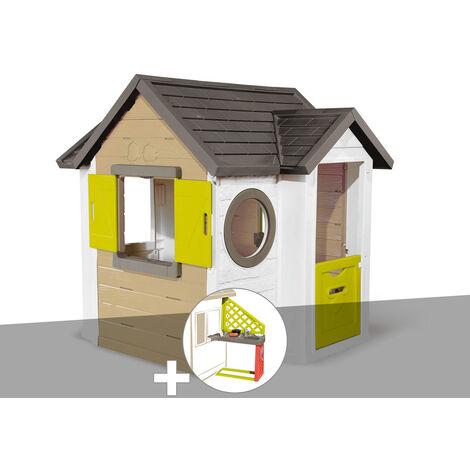 Cabane enfant Smoby My New House + Cuisine d'été
