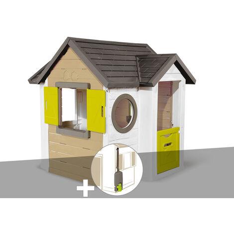 Cabane enfant Smoby My New House + Récupérateur d'eau
