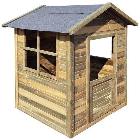 Cabane maisonnette enfant en bois