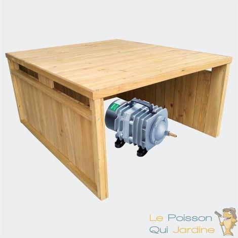 Cabane ou abri pour aérateur de bassin. 80 X 65 cm - Brun