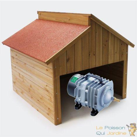 Cabane ou abri pour aérateurs de bassin. 88 X 85 cm. Toit décalé