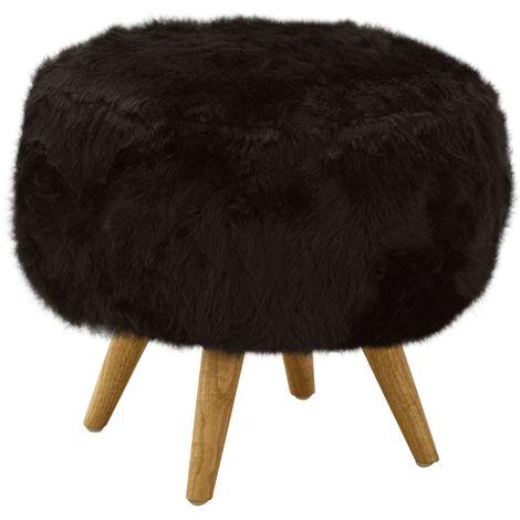 Cabaret Stool, Black Fur Effect