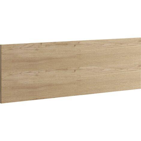 Cabecero 160 cm, cama de matrimónio o individual, anclajes de pared incluidos, 50x160x1.6cm(alto x ancho x profundo), color roble gold, colección Camila