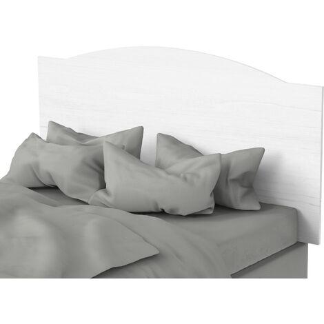 Cabecero de 160 cm estilo vintage, para camas de matrimonio, 80x160x1,6cm(alto x ancho x profundo), color blanco atlas, colección Valentina