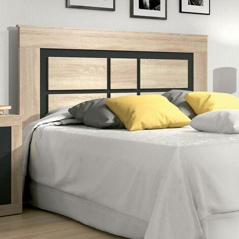 Cabecero de cama Laura plafón 160 cm   Color: CAMBRIAN - GRAFITO - CAMBRIAN - GRAFITO