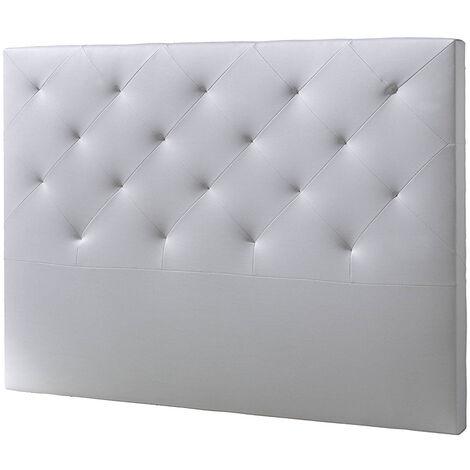 Cabecero De Cama Tapizado BRUNO 160x115 Blanco