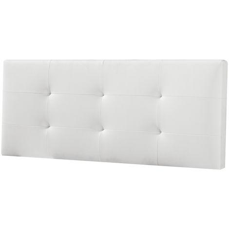 Cabecero De Cama Tapizado MAYA 140x60 Blanco