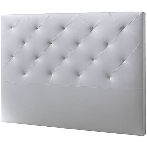 Cabecero De Cama Tapizado Rombo 150x115 Blanco