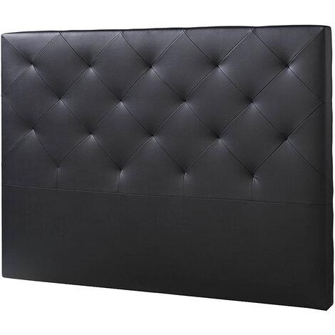 Cabecero De Cama Tapizado Rombo 150x115 Negro