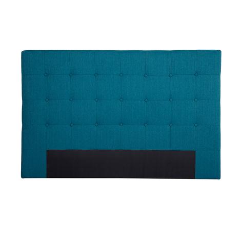 Cabecero en tejido azul petróleo 170 cm LUTECE