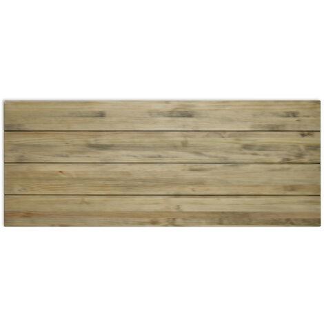 Cabecero Matrimonio 150x60cm 4 Horizontales en madera con acabado vintage - X150X60 cm - 18 mm - Efecto Vintage