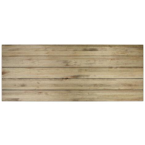 Cabecero Matrimonio 150x60cm 5 Horizontales en madera con acabado vintage - X150X60 cm - 18 mm - Efecto Vintage