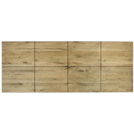 Cabecero Matrimonio 150x60cm Cuadrados en madera con acabado vintage - 60 x 150 cm - 18 mm - Efecto Vintage