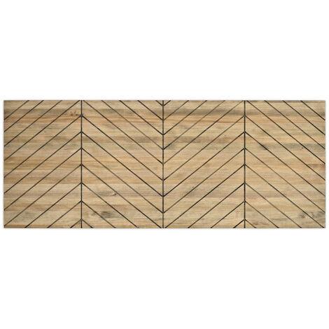 Cabecero Matrimonio 150x60cm Formas Z madera de pino acabado vintage - 150X60 cm - 18 mm - Efecto Vintage
