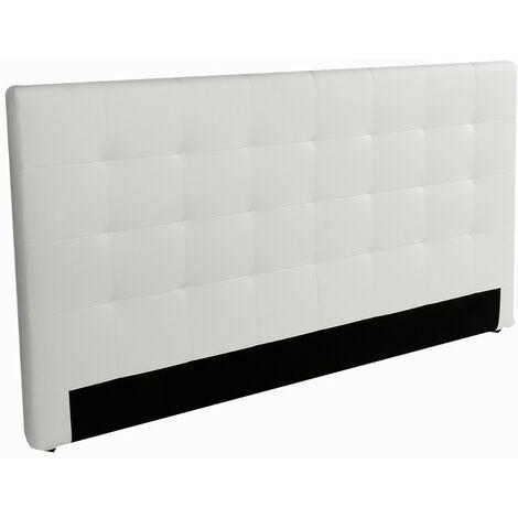 Cabecero moderno cama tapizado blanco poli-piel alta calidad xshb-012