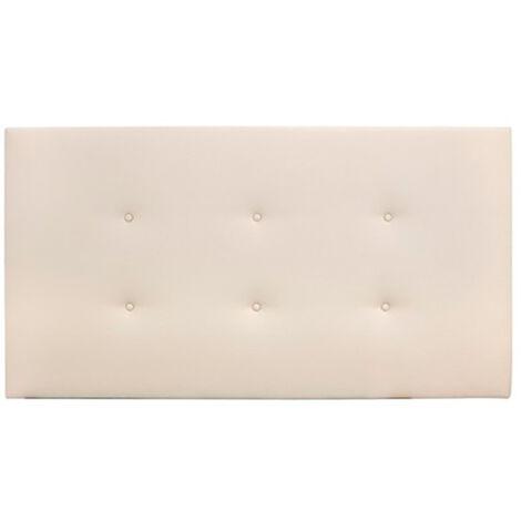 Cabecero polipiel botones beige 90x80cm