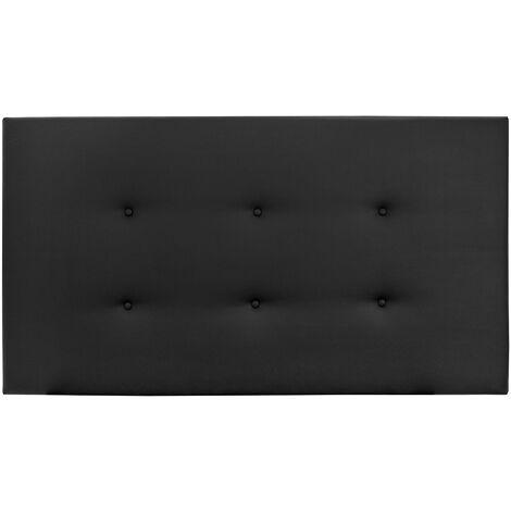 Cabecero polipiel botones negro 90x80cm