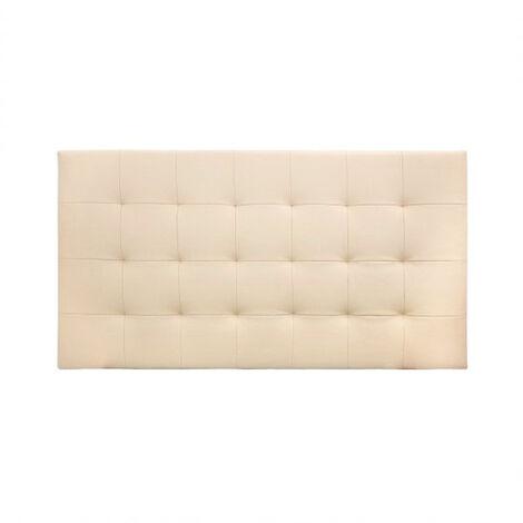 Cabecero polipiel pliegues beige 90x80cm