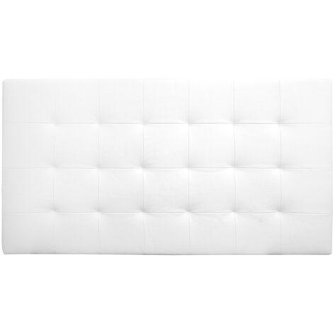 Cabecero polipiel pliegues blanco 90x80cm