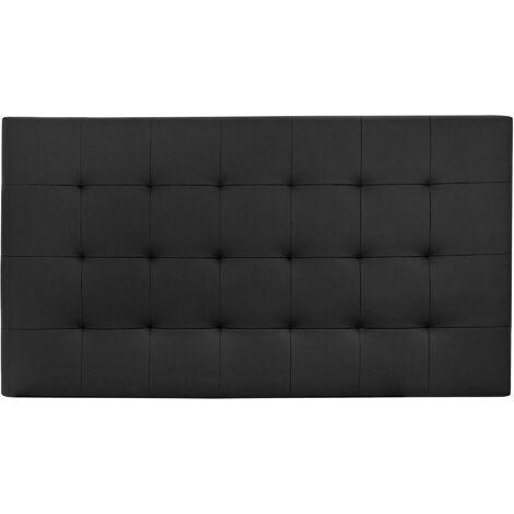 Cabecero polipiel pliegues negro 200x80cm