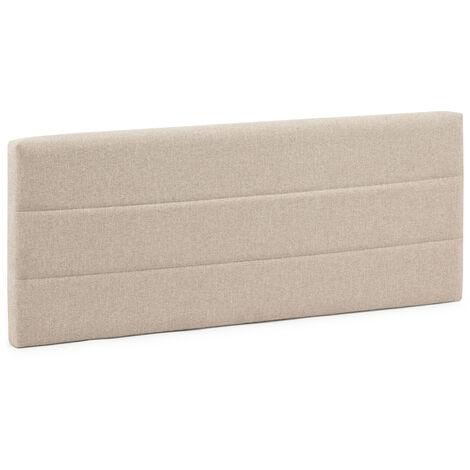 Cabecero tapizado Miconos 150x60 cm Color Beige. Acolchado con Espuma. Bordado Horizontal. 8 cm de Grosor. Incluye herrajes para Colgar