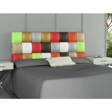 Cabecero Tapizado Polipiel Patchwork Multicolor 160x60x3