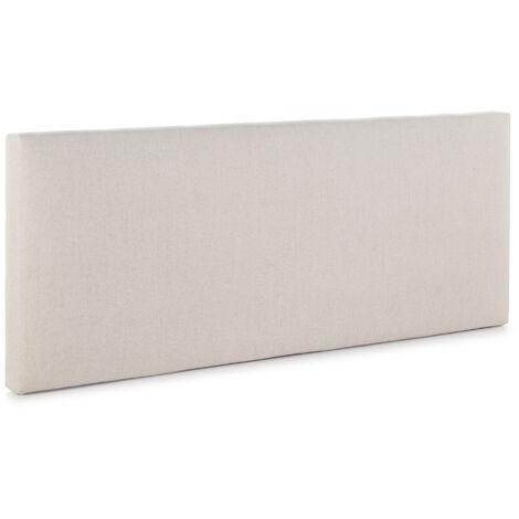 Cabecero tapizado Tagomago 150x60 cm de Lino Natural. Acolchado con Espuma. 8 cm de Grosor. Incluye herrajes para Colgar