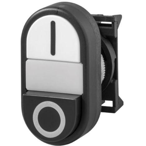 Cabeza pulsador doble blanco y negro luminoso - Giovenzana