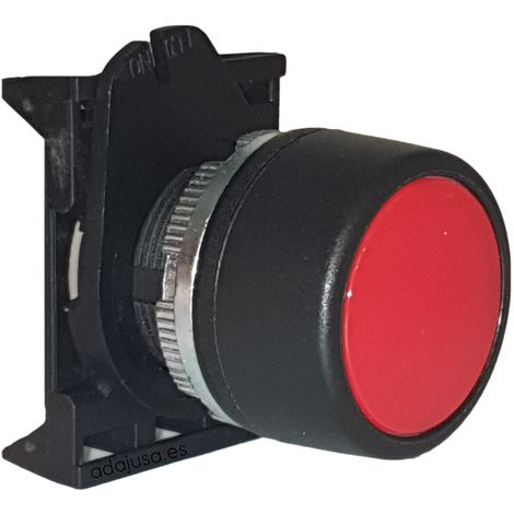 Cabeza pulsador luminoso rojo con enclavamiento - Giovenzana