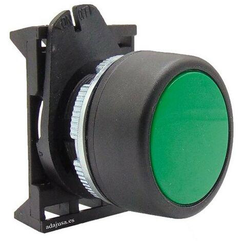 Cabeza pulsador luminoso verde con enclavamiento - Giovenzana