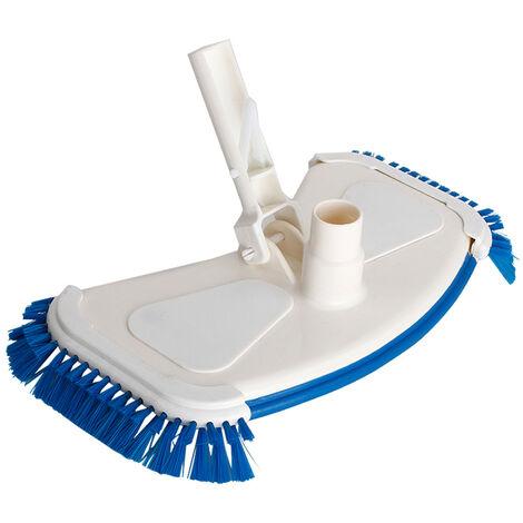 Cabezal de aspiracion portatil, con cepillos laterales, accesorio para limpieza de tina de piscina