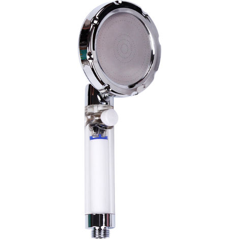 Cabezal de ducha con filtro de mano, revestimiento transparente