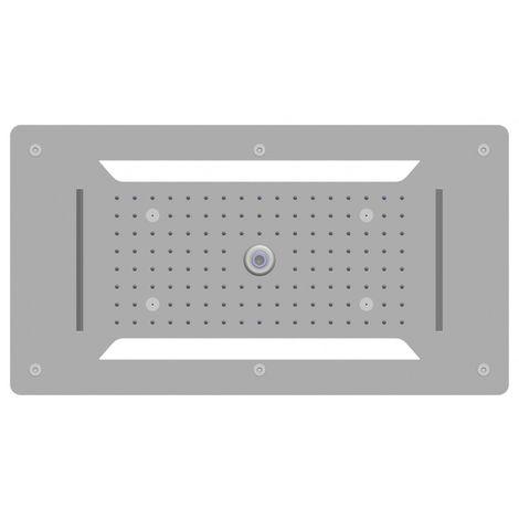 Cabezal de ducha suspendido en plafón XXL - cabezal de ducha de acero inoxidable DPG5030 - 70 x 38 cm