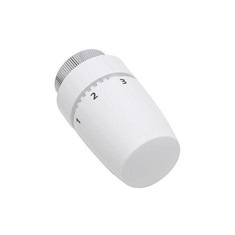 cabezal de radiador termostático diseño color blanco